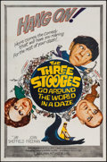 "Movie Posters:Comedy, The Three Stooges Go Around the World in a Daze (Columbia, 1963). One Sheet (27"" X 41""). Comedy.. ..."