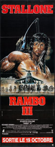 "Movie Posters:Action, Rambo III (Tri-Star, 1988). French Pantalon (22.75"" X 62.5""). Action.. ..."