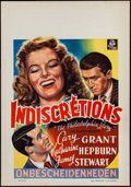 """Movie Posters:Comedy, The Philadelphia Story (MGM, Late 1940s). First Post-War Release Belgian (14"""" X 22""""). Comedy.. ..."""