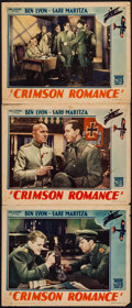 "Movie Posters:Adventure, Crimson Romance (Mascot, 1934). Lobby Cards (3) (11"" X 14"").Adventure.. ... (Total: 3 Items)"