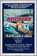 "Movie Posters:War, Midway (Universal, 1976). One Sheet (27"" X 41"") Style B & Lobby Card Set of 8 (11"" X 14""). War.. ... (Total: 9 Items)"