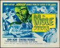 """Movie Posters:Science Fiction, The Mole People (Universal International, R-1964). Half Sheet (22""""X 28""""). Science Fiction.. ..."""