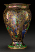 Ceramics & Porcelain, British:Modern  (1900 1949)  , A Wedgwood Fairyland Lustre Porcelain Jewelled Tree with Cat andMouse Pattern Vase, Designed by Daisy Makeig-Jo...