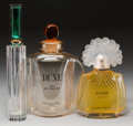 Art Glass:Other , A Group of Three Factice Bottles: Dune by Dior, Floreby Carolina Herrera and Nuits Indiennes ... (Total: 3 Items)