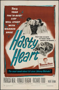 """Movie Posters:War, Hasty Heart (Warner Brothers, 1950). One Sheet (27"""" X 41""""). War....."""