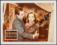 "Bette Davis and Gary Merrill in All About Eve (1980s). Autographed Color Photo (8"" X 10""). Academy Award Winne..."