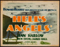 "Movie Posters:War, Hell's Angels (United Artists, R-1937). Title Lobby Card (11"" X14""). War.. ..."