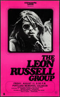 """Movie Posters:Rock and Roll, The Leon Russell Group at the Portland Memorial Coliseum (ConcertsWest, 1973). Concert Window Card (13.5"""" X 22""""). Rock and ..."""