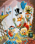 Memorabilia:Disney, Carl Barks First National Bank of Cibola Signed Limited Edition Lithograph Print #226/345 (Another Rainbow, 1987)....