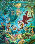 Memorabilia:Disney, Carl Barks The Makings of a Fish Story Signed Limited Edition Lithograph Print #221/345 (Another Rainbow, 1988). ...
