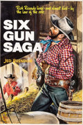 Original Comic Art:Covers, Walt Howarth Six Gun Saga Cover Original Art (PeverilWestern, 1956)....