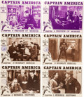 Memorabilia:Movie-Related, Captain America Serial Trimmed Lobby Card Group of 6(Republic, 1944).... (Total: 6 Items)