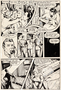 Alex Blum and Matt Baker Fight Comics #39 Hooks Devlin Page Original Art Group of 2 (Fiction House, 1945). ... (Total: 2...