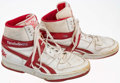 Basketball Collectibles:Others, Cliff Levingston Game Worn, Signed Shoes....