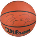 Basketball Collectibles:Balls, Michael Jordan Signed Upper Deck Authenticated Basketball....