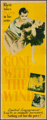"Gone with the Wind (MGM, 1940). Insert (14"" X 36""). Academy Award Winners"