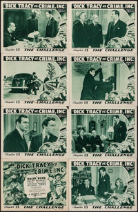 """Dick Tracy vs. Crime Inc. (Republic, 1941). Lobby Card Set of 8 (11"""" X 14"""") Chapter 13 -- """"The Challenge..."""