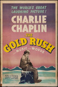 "Movie Posters:Comedy, The Gold Rush (United Artists, R-1941). One Sheet (27"" X 41""). Comedy.. ..."