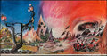 """Movie Posters:Fantasy, The Lord of the Rings by Barbara Remington (Ballantine Books, Late 1960s). Promotional Poster (37"""" X 72""""). Fantasy.. ..."""