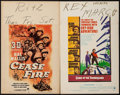 """Movie Posters:War, Cease Fire! & Others Lot (Paramount, 1953). Window Cards (4)(14"""" X 22"""") 3-D Style. War.. ... (Total: 4 Items)"""