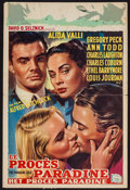 """Movie Posters:Hitchcock, The Paradine Case (Selznick, 1948). Trimmed Belgian (14"""" X 21.5"""").Hitchcock.. ..."""