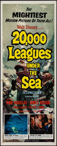 "Movie Posters:Science Fiction, 20,000 Leagues Under the Sea (Buena Vista, R-1963). Insert (14"" X36""). Science Fiction.. ..."