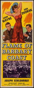 "Movie Posters:Western, Flame of Barbary Coast (Republic, 1945). Insert (14"" X 36""). Western.. ..."