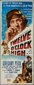 "Movie Posters:War, Twelve O'Clock High (20th Century Fox, 1949). Insert (14"" X 36""). War.. ..."
