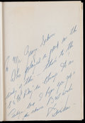Baseball Collectibles:Publications, 1962 Bill Veeck Signed Veeck as in Wreck Hardcover Book. ...