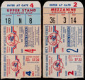 Baseball Collectibles:Tickets, 1957-58 World Series Ticket Stubs (2)....