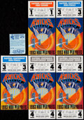 Basketball Collectibles:Others, 1993 New York Knicks Playoffs Ticket Stubs Lot of 5 With ParkingStub....