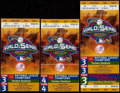 Baseball Collectibles:Tickets, 2001 World Series Ticket Stubs Lot of 3....
