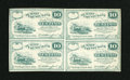 Obsoletes By State:Ohio, Cuyahoga Falls, OH- W.A. Stanford payable at Summit County Bank 10¢1862 Uncut Block of Four. ...