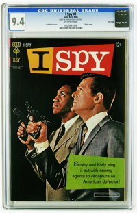 I Spy #1 File Copy (Gold Key, 1966) CGC NM 9.4. Bill Cosby and Robert Culp photo cover. Al McWilliams art. Overstreet 20...