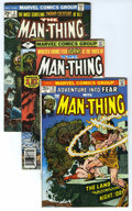 Bronze Age (1970-1979):Horror, Man-Thing Group (Marvel, 1972-80) Condition: Average VG/FN. Thefirst appearance of Howard the Duck is the highlight of this...(Total: 25 Comic Books)