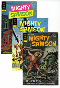 Mighty Samson Box Lot (Gold Key, 1972-75) Condition: Average VF/NM. This box lot contains issues #21 (10 copies), 22 (20...