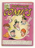 Platinum Age (1897-1937):Miscellaneous, Popular Comics #4 Dick Tracy and Others (Dell, 1936) Condition:GD/VG. This Easter edition's brightly colored cover features...
