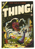 "Golden Age (1938-1955):Horror, The Thing! #17 (Charlton, 1954) Condition: VG. Steve Ditko cover.Classic ""Through the Looking Glass"" parody. Overstreet 200..."