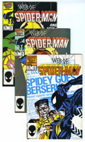 Modern Age (1980-Present):Superhero, Web of Spider-Man Group (Marvel, 1986-94) Condition: Average VF. Includes #13, 14, 15, 20, 21, 22, 23, 25, 26, 46, and 116. ... (Total: 11)