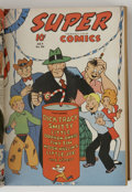 Golden Age (1938-1955):Miscellaneous, Super Comics #49-60 Bound Volume (Dell, 1942-43). Publisher's bound volume, marked Vol. V on cover. Includes one year's wort...
