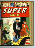 Golden Age (1938-1955):Miscellaneous, Super Comics #61-72 Bound Volume (Dell, 1943-44). Volume VI of trimmed and bound Western Publishing file copies of this stri...