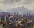 Texas:Early Texas Art - Regionalists, LLOYD GOFF (1908-1982). Over Paris Roofs (Looking TowardMontmart). Oil on canvasboard. 10 x 12 inches (25.4 x 30.5cm)...