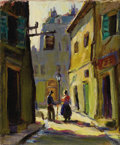 Texas:Early Texas Art - Regionalists, LLOYD GOFF (1908-1982). Untitled Paris Street Scene, 1928.Oil on canvas. 12 x 10 inches (30.5 x 25.4 cm). Unsigned, acc...