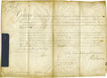 Autographs:Non-American, King George III Royal Commission Signed...