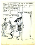 Original Comic Art:Miscellaneous, Don Martin - Private Eye Gag Preliminary Sketch Original Art, Groupof 4 (undated). Don Martin's private eye cracks another ... (Total:4 Items)