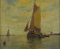 Texas:Early Texas Art - Impressionists, BOYER GONZALES, SR. (1864-1934). In Belgian Waters. Oil oncanvasboard. 8 x 10 inches (20.3 x 25.4 cm). Signed lower rig...