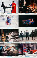 "Movie Posters:Action, Superman II (Warner Brothers, 1981). Lobby Card Set of 8 (11"" X14""). Action.. ... (Total: 8 Items)"
