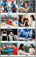 "Movie Posters:Action, Superman III (Warner Brothers, 1983). Lobby Card Set of 8 (11"" X14""). Action.. ... (Total: 8 Items)"