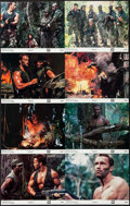 """Movie Posters:Science Fiction, Predator (20th Century Fox, 1987). Lobby Card Set of 8 (11"""" X 14""""). Science Fiction.. ... (Total: 8 Items)"""