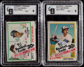 Baseball Cards:Unopened Packs/Display Boxes, 1978 Topps Unopened Cello Pack GAI Graded Pair (2)....